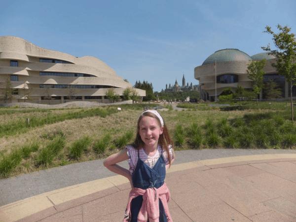 Ottawa-outside the Canadian Museum of Civilization