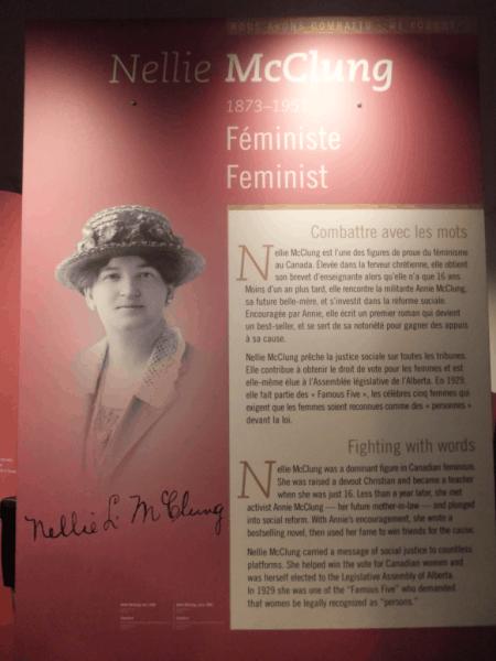 Ottawa-Cdn. Museum of Civilization - Nellie McClung