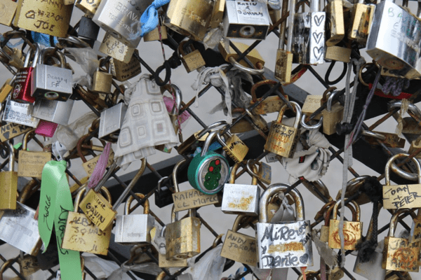 Paris-bridge-love locks