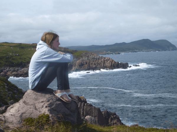 newfoundland-ferryland-girl looking at ocean
