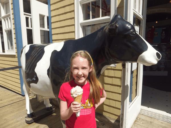 nova scotia-halifax-outside cows ice cream