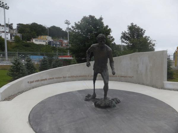 Terry Fox Memorial in St. John's Newfoundland