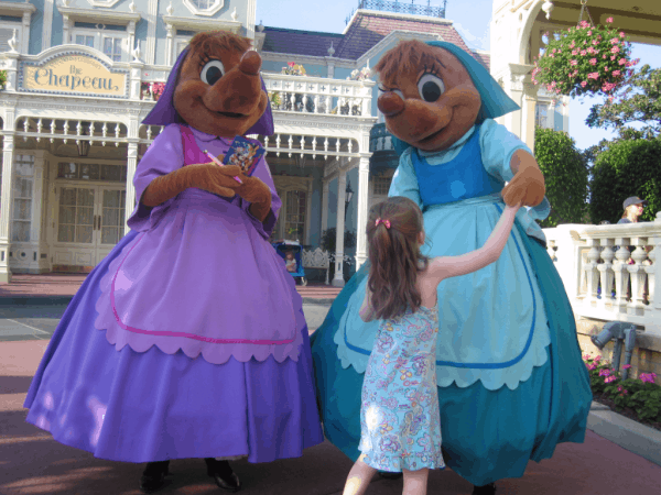 Disney World-Dancing with Cinderella's mice