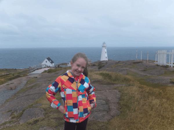 Newfoundland-girl at Cape Spear