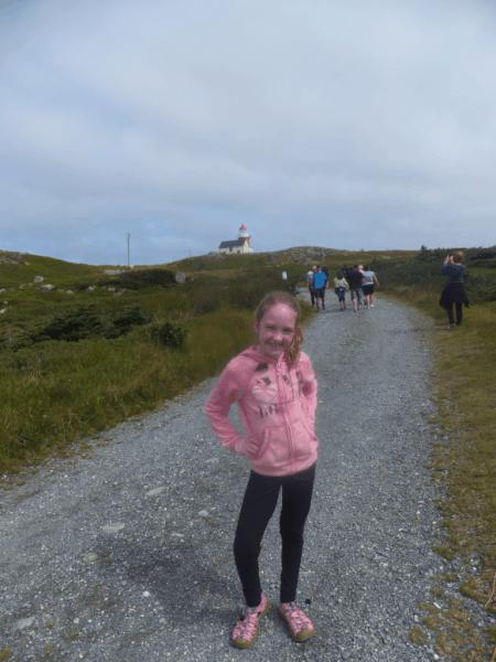 Newfoundland-Walking to the Ferryland Lighthouse