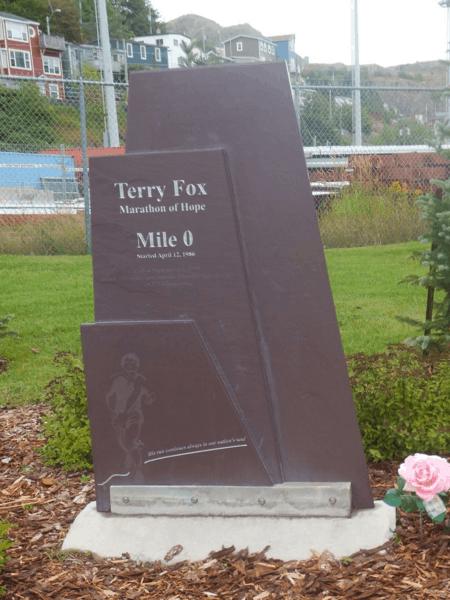 Newfoundland-St. John's-Terry Fox Marathon of Hope - Mile 0 Marker