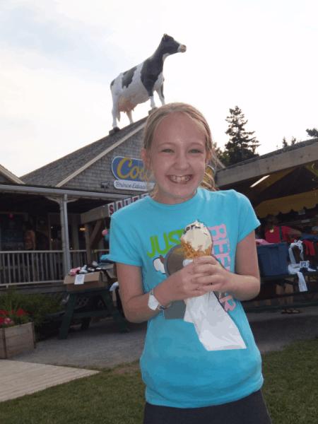 prince edward island-cavendish boardwalk-cows ice cream