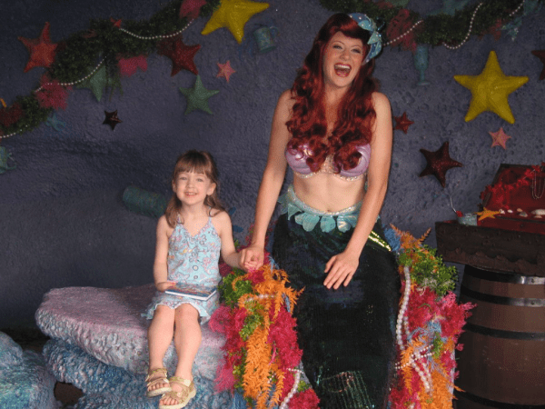 Disney World-with the Little Mermaid
