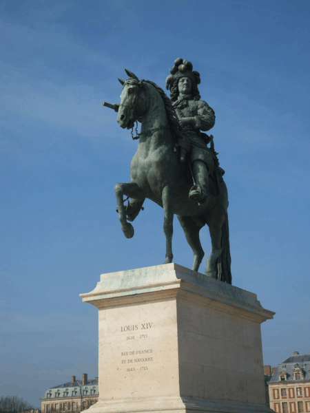 Statue of Louis XIV outside Château de Versailles