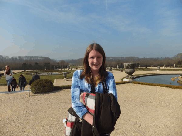 In the gardens at Chateau de Versailles
