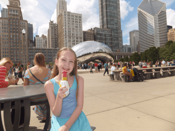Chicago-girl in Millennium Park