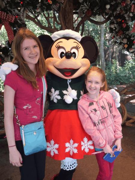 Disney World-with Holiday Minnie