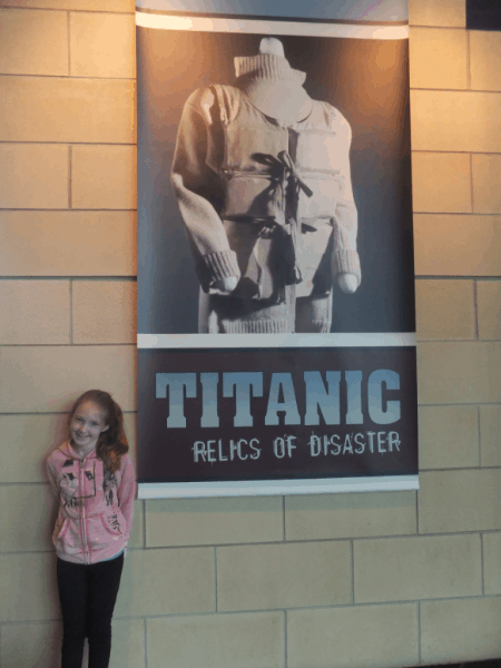 Outside Titanic exhibit at The Rooms-St. John's, Newfoundland