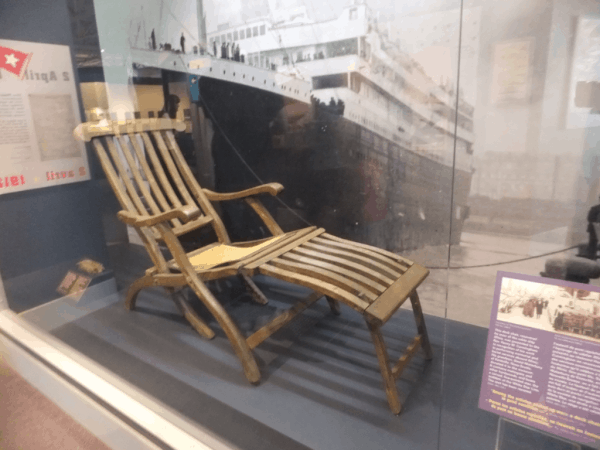 Deck chair from Titanic at Maritime Museum of the Atlantic-Halifax