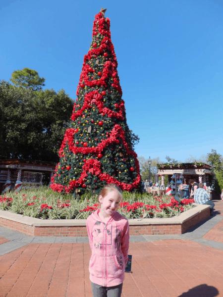 disney world-Epcot Christmas Tree
