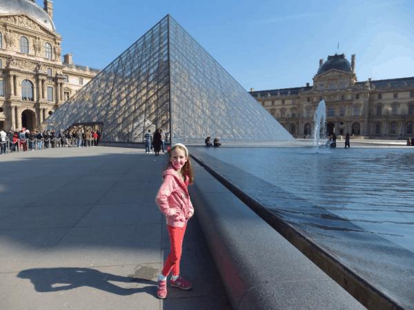Outside the Louvre-Paris