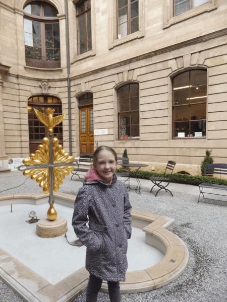 Switzerland-Geneva-Courtyard of Maison Mallet
