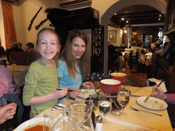 Switzerland-Geneva-Fondue at Restaurant Les Armures