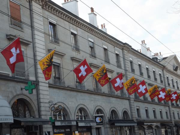 Street of flags-Geneva-Switzerland