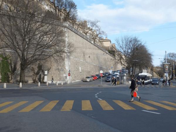 Rampart wall-Old Town Geneva-Switzerland