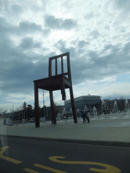 Broken Chair monument in Geneva, Switzerland