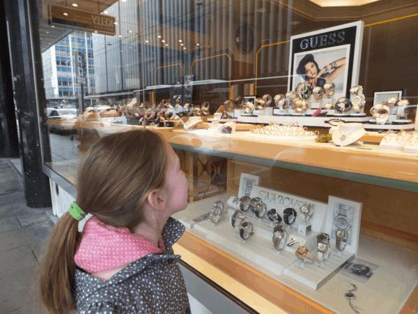 Switzerland-Geneva-Window shopping for Swiss watches
