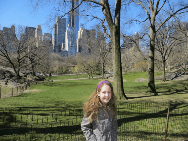 New York City-Central Park-Essex House in background