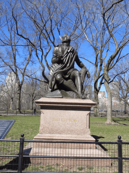 New York City-Central Park-Robert Burns statue