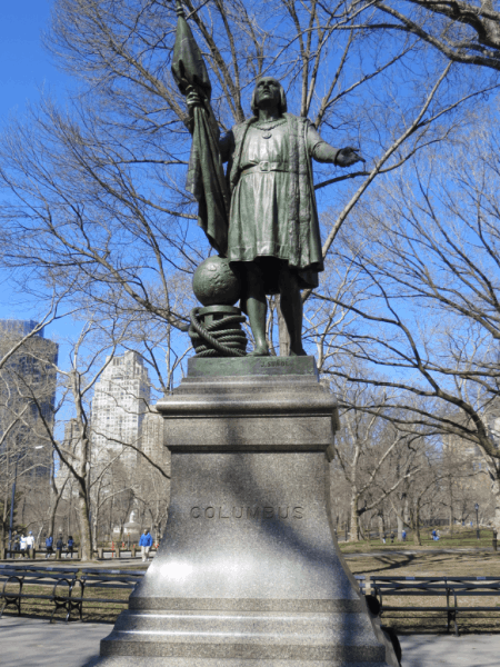 New York City-Central Park-Columbus statue