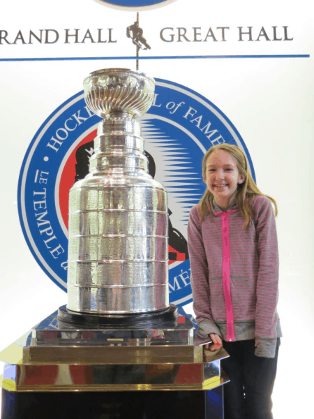 Toronto-Hockey Hall of Fame-posing with Stanley Cup