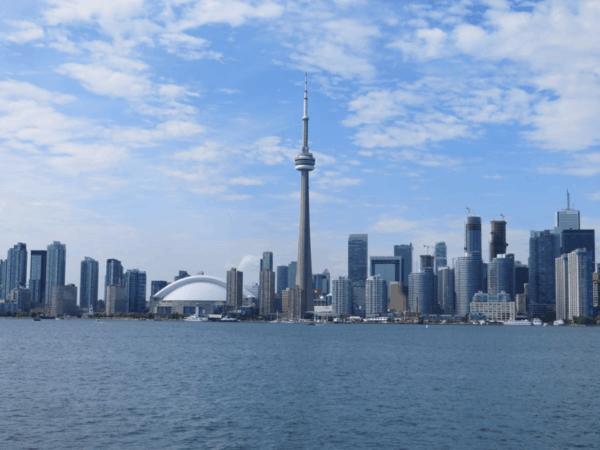 Toronto skyline from ferry