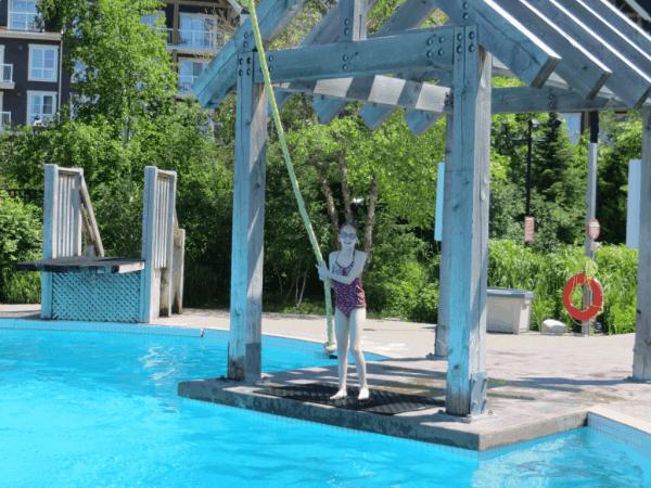 Plunge Aquatic Blue Mountain Rope Swing