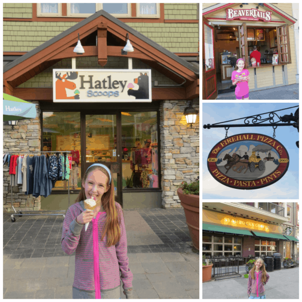 Blue Mountain Village Dining collage