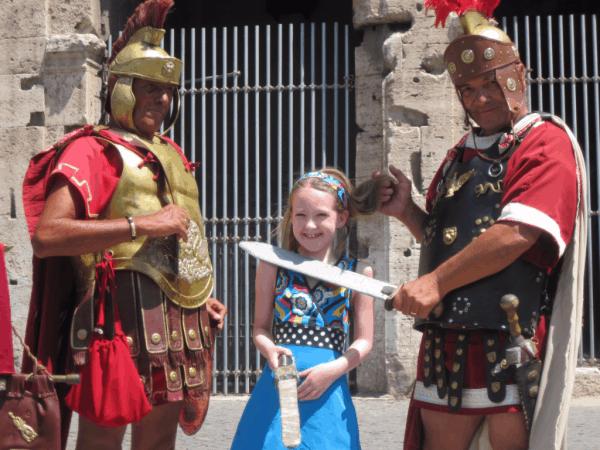 Gladiators at Roman Colosseum