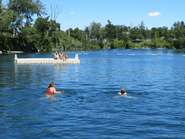 Swimming in St. Marys, Ontario-limestone quarry