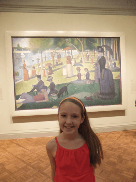 A Sunday on La Grande Jatte by Seurat at The Art Institute of Chicago