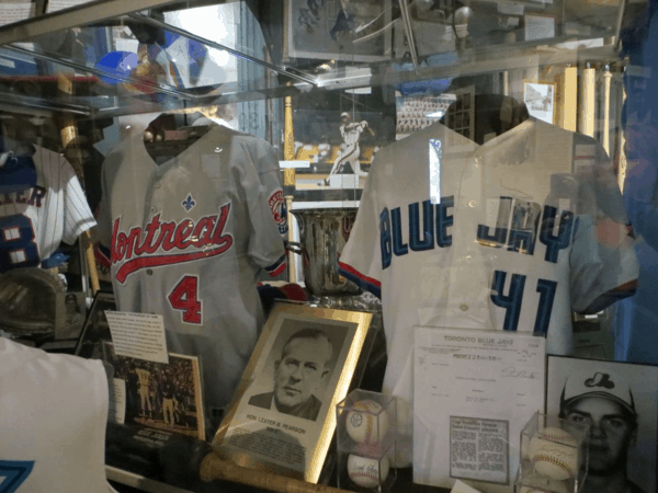 Pearson Cup exhibit at Canadian Baseball Hall of Fame in St. Mary's, Ontario
