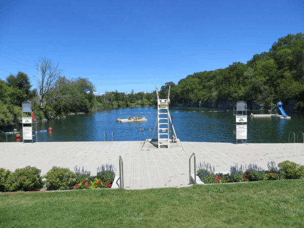 St. Marys, Ontario-limestone quarry outdoor swimming pool