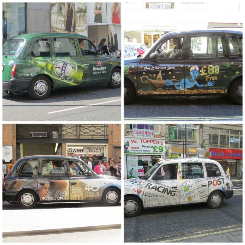 London cabs - business collage