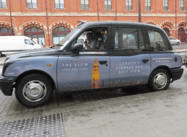 London cabs - The Shard