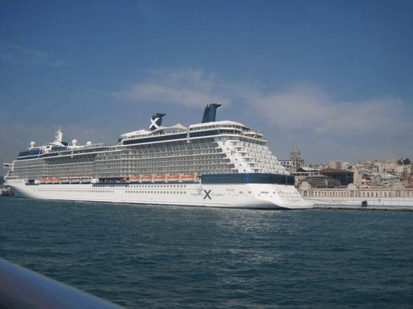 Celebrity Equinox docked in Istanbul, Turkey