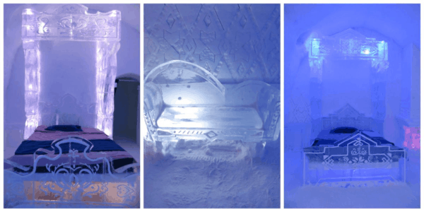 Quebec-Ice Hotel-Frozen suite-collage