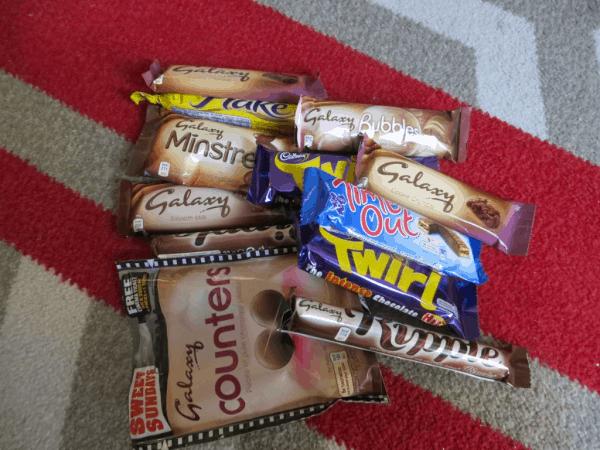 Stash of London chocolate