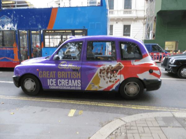 London cabs - Cadbury Ice Cream