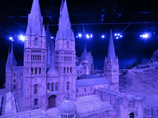 Warner-Bros-Studio-Tour-Hogwarts-Model-night