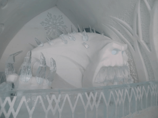 Quebec-Ice Hotel-Disney-Frozen-Snow Monster
