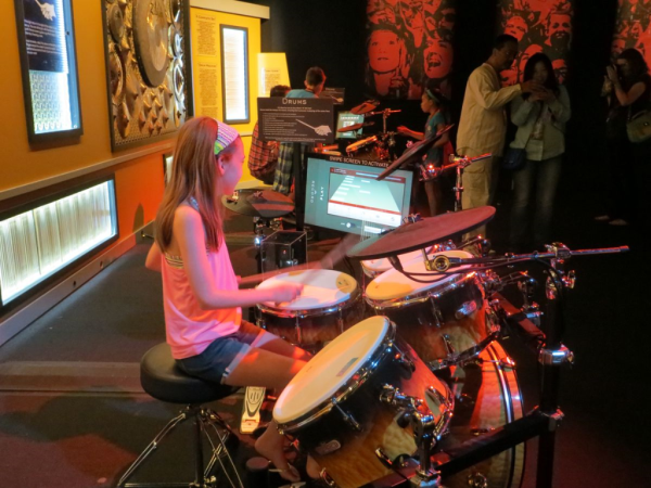 Ontario science centre-science of rock n roll-drums