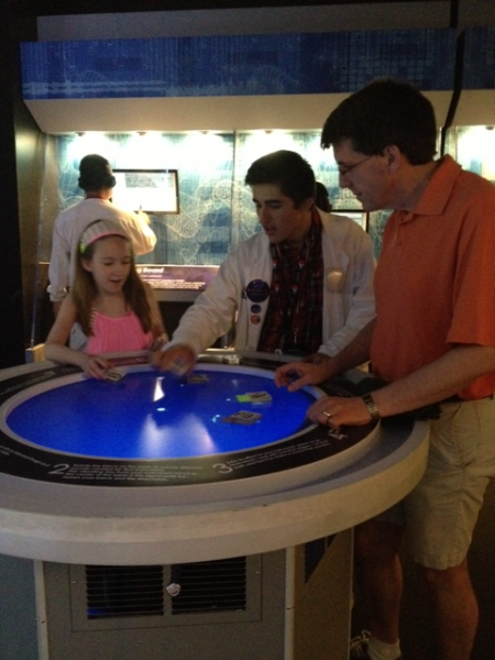 Ontario science centre-science of rock n roll-learning to use reactable table