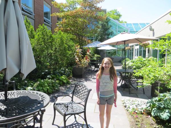 Royal botanical gardens-courtyard
