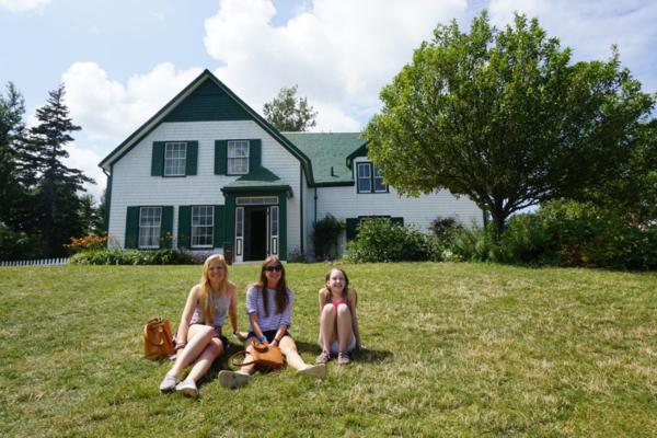 Prince edward island national park-green gables-girls relaxing